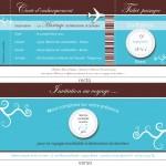 Un faire part de mariage sous forme de carte d'embarquement