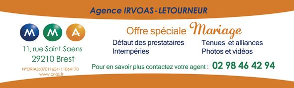 Assurance de mariage à Brest : mma- Agence Irvoas - Letourneur