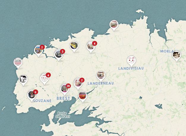 Carte des prestataires de Mariage-Brest.fr sur Pinterest